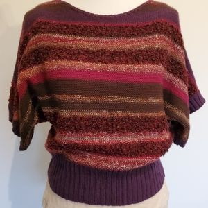 Ruby Red Striped Purple Sweater